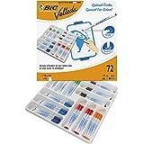 BIC Velleda 1721 Whiteboard Marker Fine Bullet Nib - Assorted Colours, Classpack of 72 Whiteboard Markers Set School Supplies