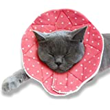 SunGrow Soft Donut Collar, Fits 9-10 inches, No More Cone of Shame, for Speedy Neuter or Surgery Recovery, Comfortable Neck P