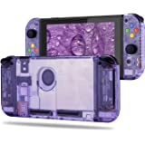 BASSTOP [Update Version] DIY Replacement Housing Shell Case Set for Switch NS NX Console and Right Left Switch Joy-Con Contro