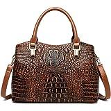Cayla Top Handle Satchel Handbags Crocodile Bag Designer Purse Leather Tote Bags