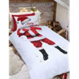 Pieridae Christmas Santa Reversible Quilt Cover & Pillowcase Set - Santa, Single