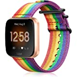 Fintie Bands Compatible with Fitbit Versa 2 / Versa/Versa Lite Edition, Soft Nylon Replacement Strap Wristband Accessories Co