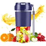 Isobel Portable Blender, Mini Cordless Personal Blender USB Rechargeable Smoothie Juicer Cup, Waterproof Household Fruit Mixi