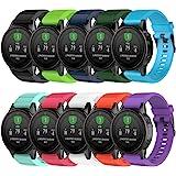 QGHXO Band for Garmin Fenix 5S, Soft Silicone Watch Band Strap for Garmin Fenix 5S Smart Watch, Fit 5.31 inches-8.46 inches,
