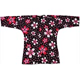 【お祭り用品・衣装】鯉口シャツ(S~3L) B603 黒地に桜
