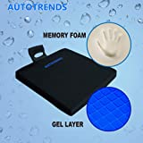 Autotrends Gel Soft Seat Cushion Universal Ergonomic Anti Slip Cushion for Car, Office, Garden Chair