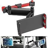 Car Headrest Tablet Mount, MOTYYA Stretchable Tablet Headrest Holder for Car Backseat Universal 360° Rotating Adjustable, Com