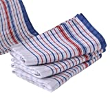 Bulk 50 Pcs Set, Commercial Vintage Tea Towels, 100% Cotton, Momi Check Linen, 46cmx77cm, Bigger, Thicker,Better