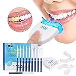 Teeth Whitening Kit, Y.F.M Teeth Whiten Gel Kit White Dental Care Bleaching System Set, 10x Whitening Gel 2x Dental Trays...