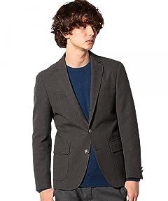 Polyester Cotton Hopsack Blazer 3222-186-0250: Grey