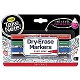 Crayola 586541 Take Note Low Odor Fine Tip Dry Erase Markers (4 Piece)