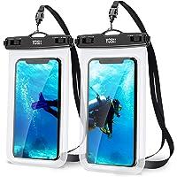 2枚セットYOSH スマホ 防水ケース IPX8認定 完全保護 密封 お風呂用 最大7.0インチ対応 iPhone 12…