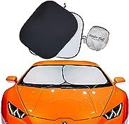 kinder Fluff Car Windshield sunshade-210T for Ultimate uv/Sun Protection for car - windshield sun shade (XL)