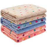 SCIROKKO Fleece Soft Dog Blanket - Warm Coral Velvet Best Cute Crate Bed Couch Cover Blankets- for Dogs and Cats