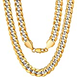 ChainsPro Men/Women Snake Chain, 6/8MM Width, 18/20/22/24/26/28/30 Inches, 316L Stainless Steel/Gold/Black (with Gift Box)