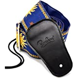 BestSounds Guitar Strap Genuine Leather Ends- Sun Jacquard W