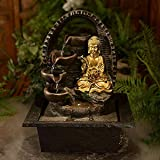 Ewaterfeatures Pottery Buddha Patio Gold/Bronze, Dark/Black