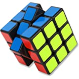 EZONEDEAL Speed Cube 3x3x3 Sticker Cube Puzzle Easy Turning Smooth Twist Magic Smart Cube Toys Brain Teaser for Beginner Kids