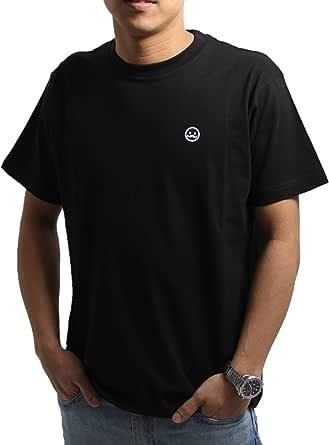 【FINON】 ベーシックTシャツTシャツ メンズ 半袖Tシャツ ワッペンロゴコットン ワンポイント Tシャツ 半袖 メンズファッション おしゃれ クルーネック ゆったり コットン 夏服 夏