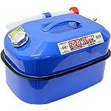 メルテック ガソリン携行缶 20L 消防法適合品 KHK [亜鉛メッキ鋼鈑] 鋼鈑厚み:0.8㎜ 積重ねタイプ ブルー Meltec FZD-20