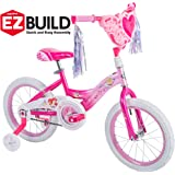 Huffy ディズニー プリンセス 16インチ ガールズ EZ Build ピンクバイク (長さ x 幅 x 高さ) 3…