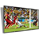 UTSLIVE 100 Inches 16:9 Simple Projector Screen Polyester Portable Foldable Wall Mounted Cinema Front and Rear Projection Scr