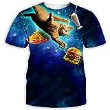 3dプリントtシャツ メンズ 半袖 カップル 猫柄tシャツ 総柄 原宿系 大きいサイズ 夏用tシャツ 柔らか 薄手 涼しい カジュアル ゆったり 轻量 通気速乾 吸汗 カッコイイ カットソー 丸首 男性用 アウトドア