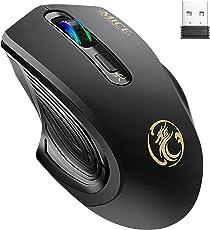 ワイヤレスマウス USB無線マウス 2.4GHzワイヤレス/カウント切替機能付き/人間工学のデザイン/・耐久性に優 3段階調整可能なDPI設定 (M)