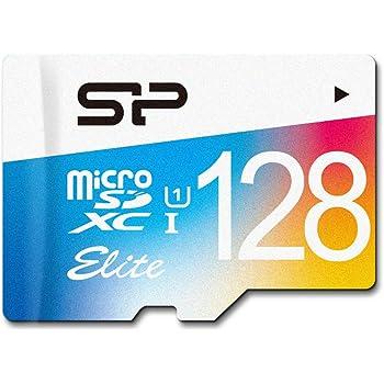 シリコンパワー microSD カード 128GB class10 UHS-1対応 最大読込75MB/s アダプタ付 永久保証 SP128GBSTXBU1V20SP