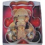 R&M International 1914/B Teddy Bear Cookie Cutters, Assorted Sizes, 3-Piece Set