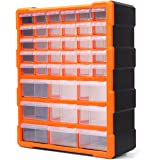 HORUSDY 39 Drawers Storage Cabinet Tool Box Bin Chest Case Plastic Organiser Toolbox