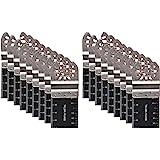 20 PCS Bi-Metal Oscillating Multitool Quick Release Oscillating Saw Blades Fits Fein Multimaster, Porter Cable, Black&Decker,