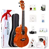 Ukulele Uke With Free Online Course 8 Packs Beginner Starter Kit (Gig Bag Picks Tuner Strap String Cleaning Cloth Instruction