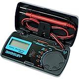 allsun Manual Range Digital Multimeter Mini 6 Functions Handheld Folding Digital Multimeter 3-1 2 Digit Pocket DMM DC/AC Volt