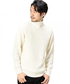 Wool Tuck Turtleneck Sweater 1283-105-0113: White