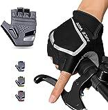 騎行手套 騎行手套 手指切 男士 春夏 自行車 手套 3D 立體 半指手套 女士 透氣性 速干性 手套 減震 帶胸墊