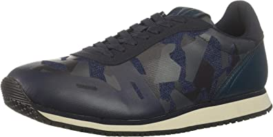 A|X Armani Exchange Mens XUX018XV027 Low Top Camo Lace Up Sneakers