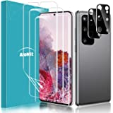AloMit [3 Pack]Screen Protector for Galaxy S20 Plus 5G,S20 Plus+[2 Pack]Camera Lens Protector Fingerprints Sensor Support Cas