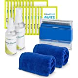GreatShield Screen Cleaning Kit with 2 Bottle Solution (60ml and 120ml), 2 Microfiber Cloths, 20 Non-Alcohol Screen Cleaning