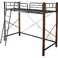 DORIS ロフトベッド シングル 高さ182cm 木製支柱 メッシュ床 ハイタイプ ボヌール