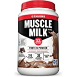 Muscle Milk Genuine Protein Powder, Natural Chocolate, 32g Protein, 2.47 Pound, 16 Servings