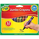 CRAYOLA 52 912 My First Jumbo Crayons, 12 Colours, 12 Months +, Designed for Little Hands, Creative Play, Perfect for Junior