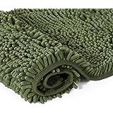 Plush Microfiber Bath Rug 1 Piece Chenille Floor Mat Ultra Soft Washable Bathroom Dry Fast Water Absorbent Bedroom Area Rug K