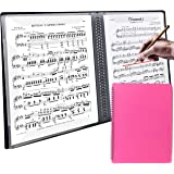 【ダサズニカケーる】楽譜を取り出さずに書き込み可能 リングファイル A4 音楽ファイル (コイルファイル(40ページ), ピンク)