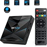 HK1 Super Smart TV Box Android 9.0 RK3318 Quad Core Android TV Box 2.4G/5G Dual WiFi USB3.0 BT4.0 4K H.265 UHD Android Media