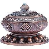 MEDOOSKY Incense Holder Burner Tibet Lotus Copper Alloy( Stick/ Cone/ Coil Incense)