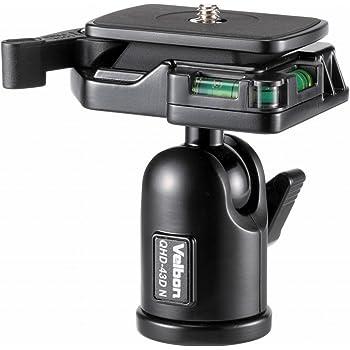 Velbon 自由雲台 QHD-43DN 小型 底面径38mm DIN規格クイックシュー対応 アルミ製 475213