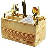 Spiretro Flatware Caddy, Cutlery Utensil Holder, Silverware Condiment Organizer for Kitchen, Dining, Entertaining, Tailgating