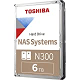 Toshiba N300 6TB NAS 3.5-Inch Internal Hard Drive - CMR SATA 6 GB/s 7200 RPM 256 MB Cache - HDWG160XZSTA