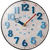 MAG(マグ) 掛け時計 電波時計 アナログ インテリアクロック 夜間秒針停止機能付き 立体文字 球面ガラス ナチュラル W-750N